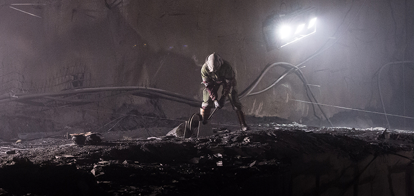 minera interior pizarra