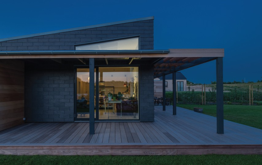 future house with slate cladding in Holbaek Denmark