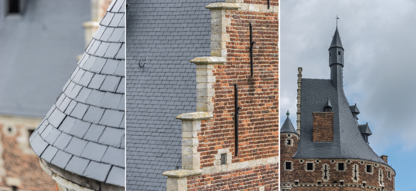 Dak detail kastelen van beersel België