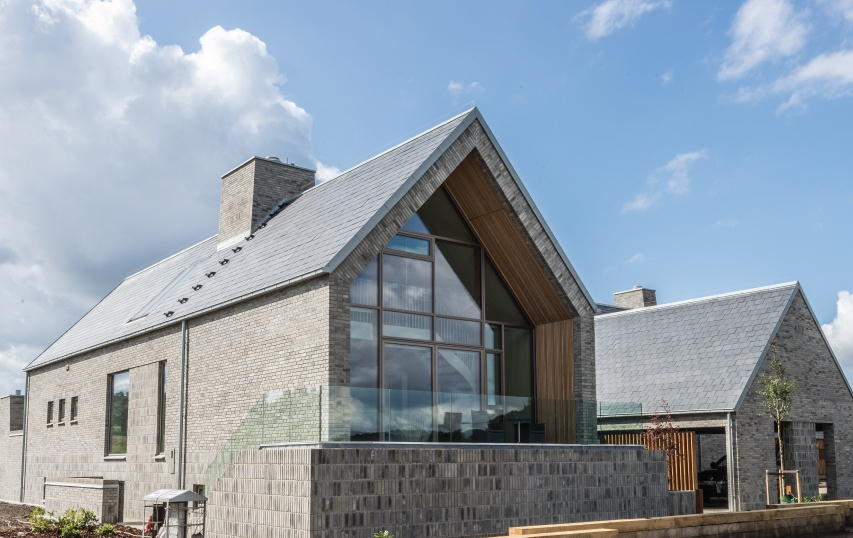 danish family home with thermoslate system in the roof