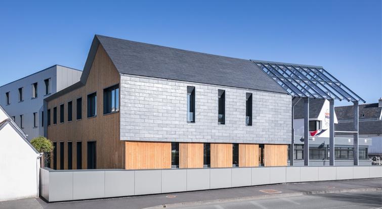 fachada del edificio comunidad Haut Pays Bigouden - Bretaña Francesa