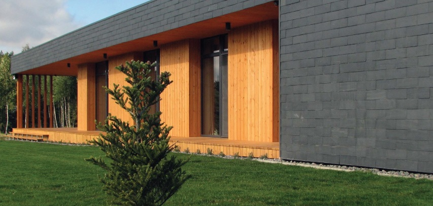 natural slate facade for housing in rumsiskes