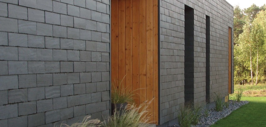 natural slate cladding for housing in rumsiskes