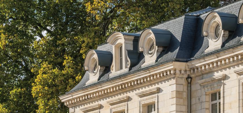 hotel de la Motte-Sanguin detalle de las pizarras en su cubierta