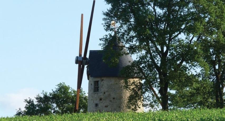 moulin baron toit d'ardoises