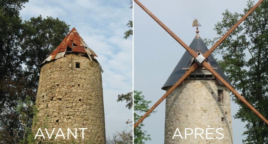 moulin baron avant et press renovation