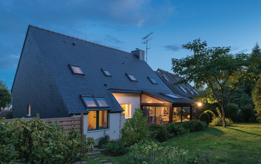 home in cesson france with pitched roof