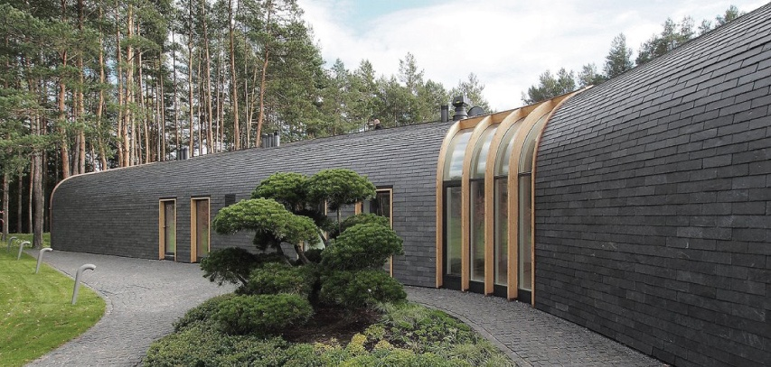 natural slate cladding for rest houses in vilnius