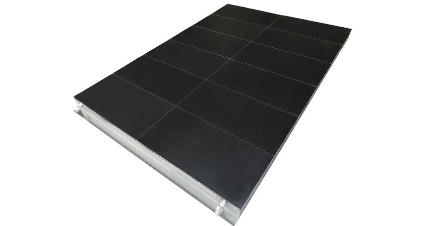 solar panel floor detail