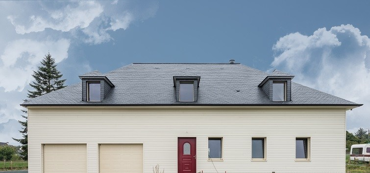 thermoslate solar roof on house in Chailland - France