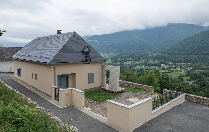 thermoslate solar slate on house in gaillagos pyrenees france