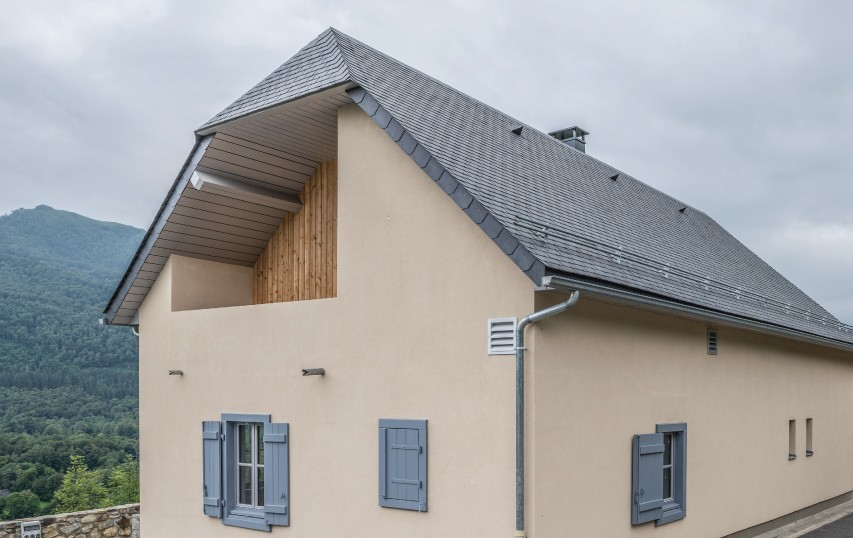 thermoslate solar panel on gaillago pyrenees france
