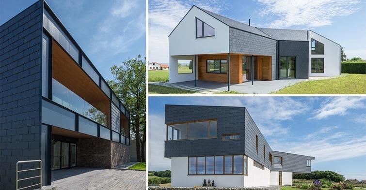 3 casas de estilo actual con pizarra natural