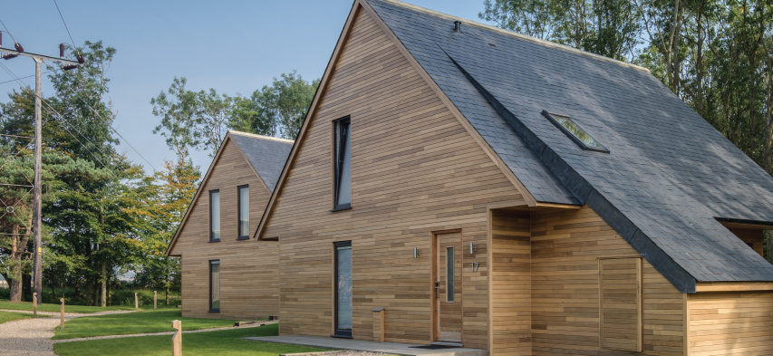 arquitectura sostenible con cubiertas de pizarra