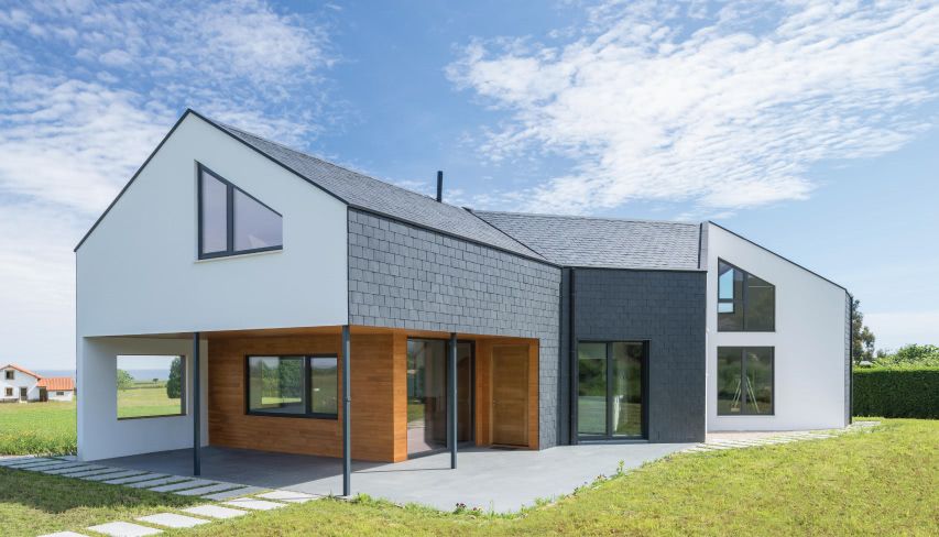 Passive house with almost zero energy consumption