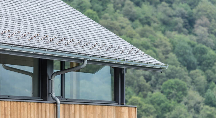 thermoslate solar roof on a french house