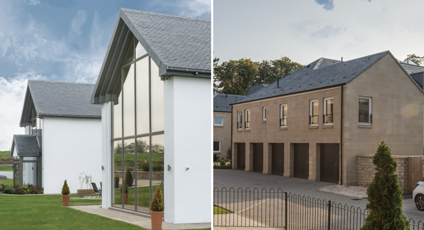 2 houses with natural slate roof