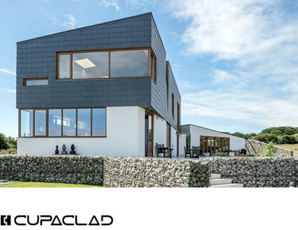 Natural slate rainscreen cladding systems