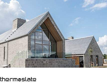 Thermal solar natural slate roofing