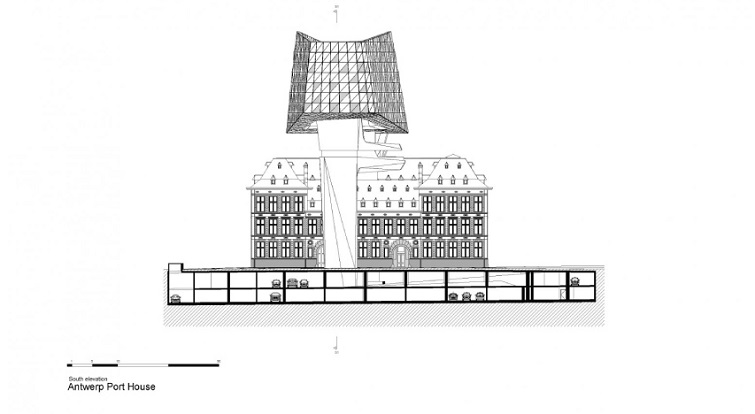 Port of Antwerp zaha hadid blueprint