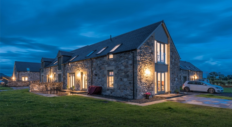 Natural slate in thePowis Mains Farm Project- Blairlogie Scotland
