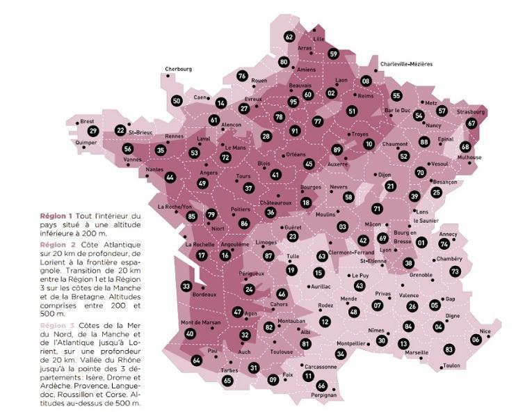 regions climatiques france