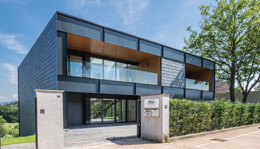showroom mugia slate facade