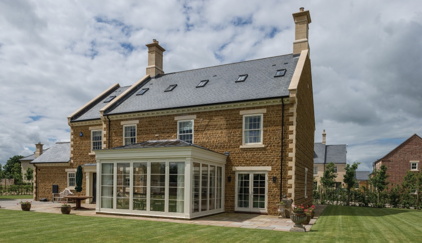 slate roofing house in caldecote - uk