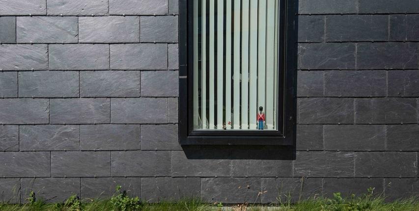 slate exterior wall