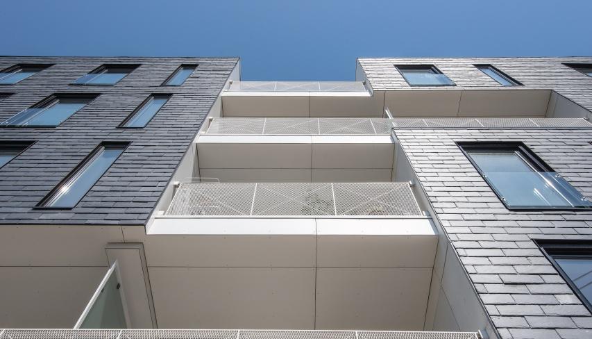 tandrupkollegiet slate facade home inspiration