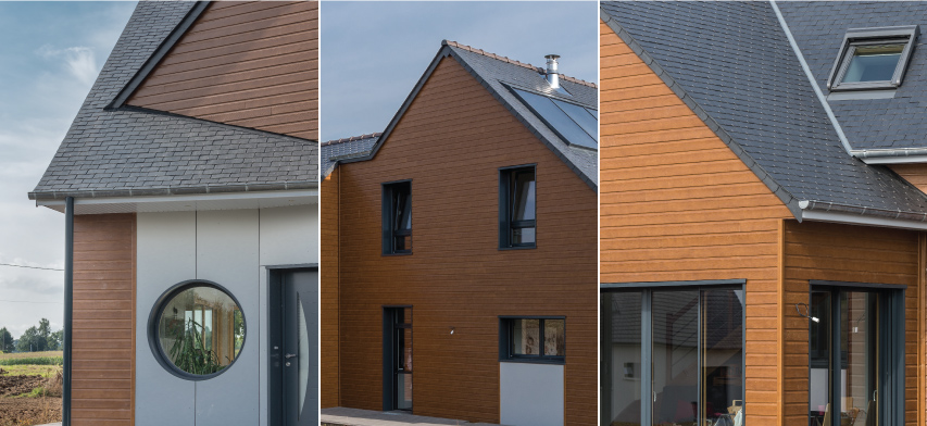 cubierta de pizarra natural de una casa en Francia