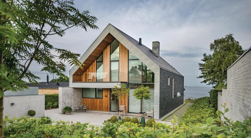 Villa P - Maison au Danemark avec facade ventilee