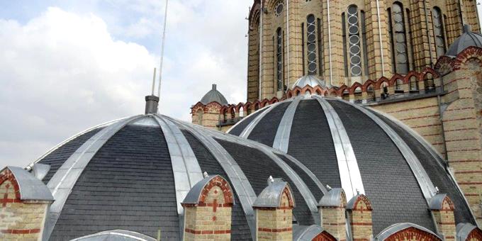 Ardoise naturelle CUPA sur la Basilique Sainte-Clotilde