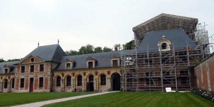 Ardoise naturelle CUPA sur le Château de Vaux-le-Vicomte