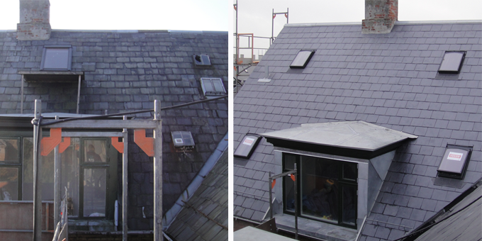 natural slate roof renovation