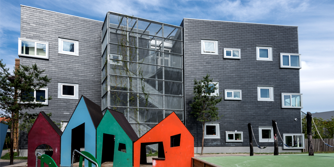 CUPACLAD slate cladding in childcare