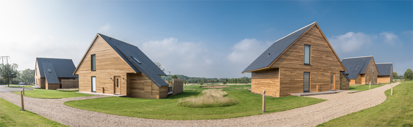 CUPAPIZARRAS natural slate roof for the KP Golf Club