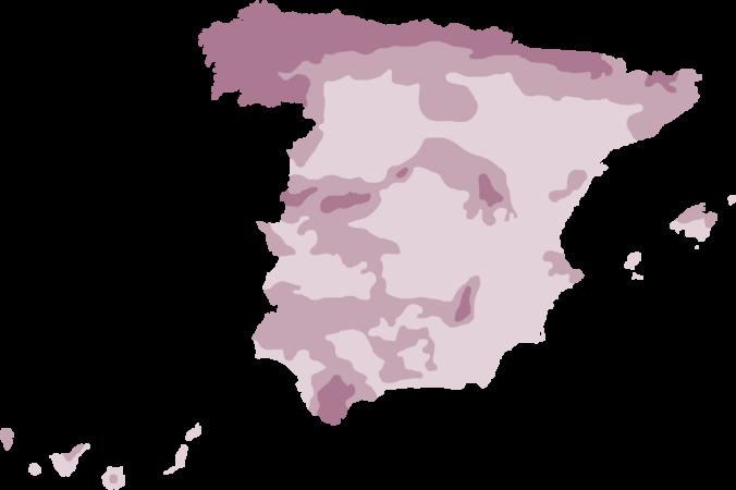 mapa pluviométrico de España