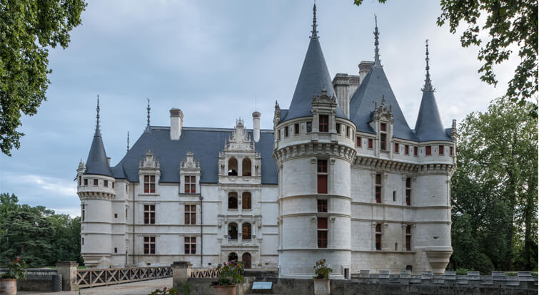 restauración del tejado del Château d'Azay-le-Rideau