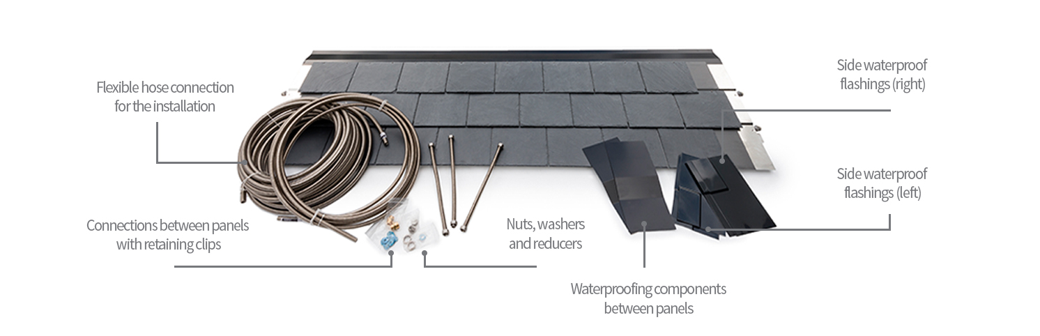 installation kit solar roof