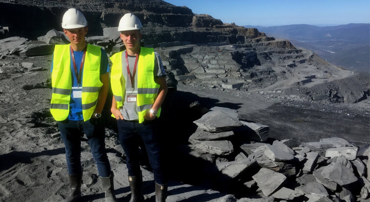 leeds college building apprentices at cupa pizarras quarry in spain