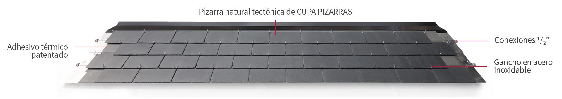 thermoslate panel solar gancho detalle