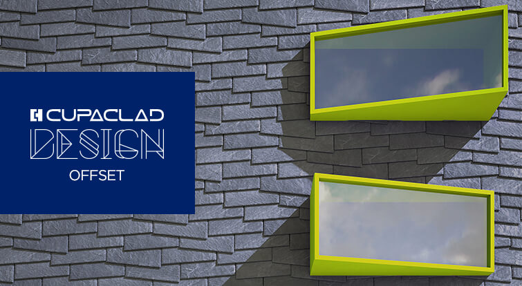 CUPACLAD Design OFFSET, asymmetric design for ventilated facades