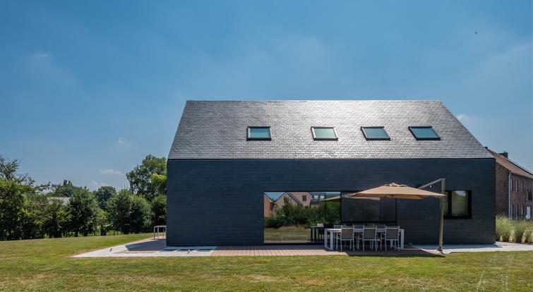 Nieuwbouw cupaclad leien gevel 101 logic Urban Architectes