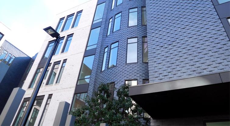 Sistema de fachada ventilada en pizarra CUPACLAD en el complejo residencial One Museum Place