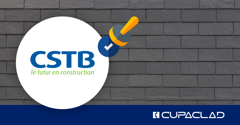 CUPACLAD® with aluminium structure certified by the CSTB