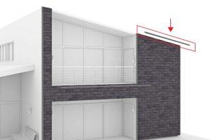 tôle métallique d'acrotère qui protège la façade ventilée