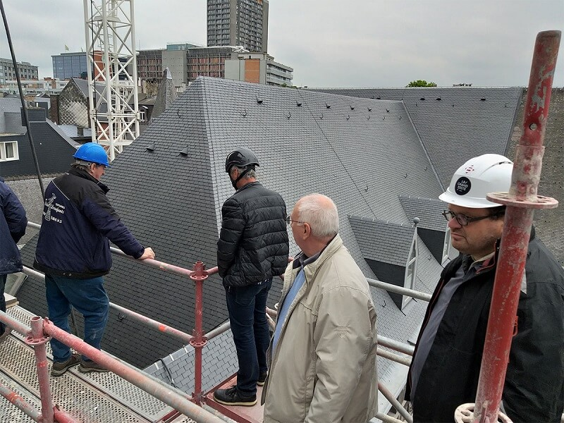 Ardoise CUPA 4 pour la rénovation de toiture de la Cathédrale de Liège