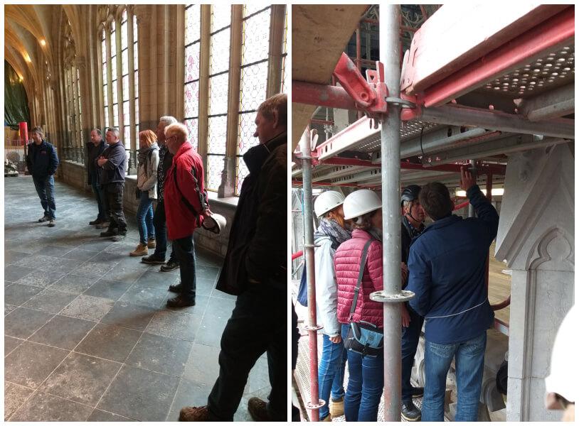 chantier de restauration de la Cathédrale de Liège