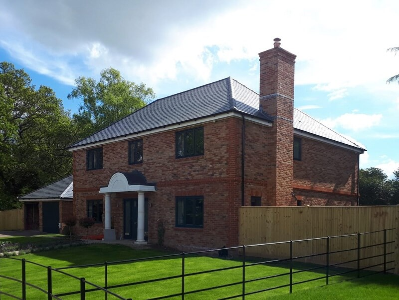 luxury homes with slate pitched roof at Stacklands Retreat